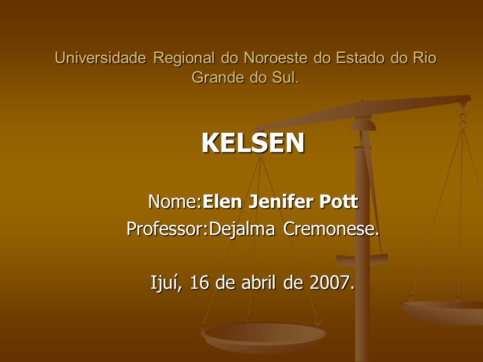 Universidade Regional do Noroeste do Estado do Rio Grande do Sul.