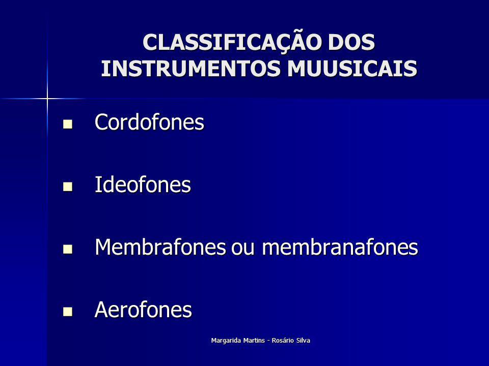 CLASSIFICAÇÃO DOS INSTRUMENTOS MUUSICAIS