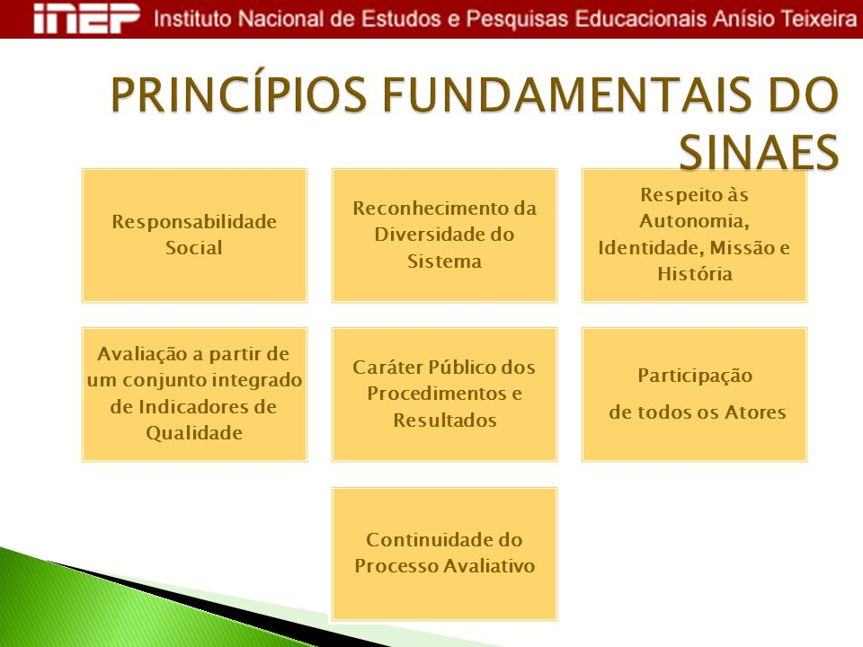 PRINCÍPIOS FUNDAMENTAIS DO SINAES