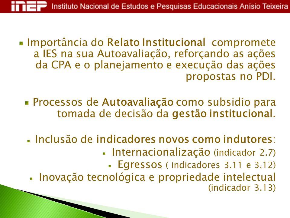 Importância do Relato Institucional compromete a IES na sua Autoavaliação, reforçando as ações da CPA e o planejamento e execução das ações propostas no PDI.
