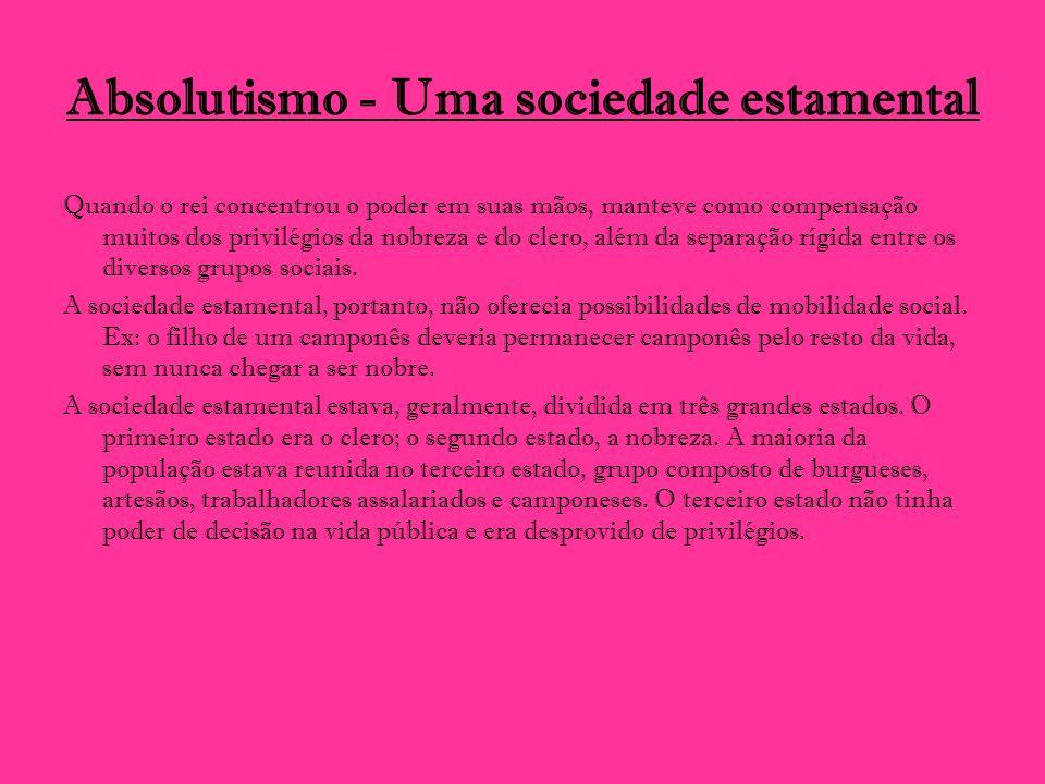 Absolutismo - Uma sociedade estamental