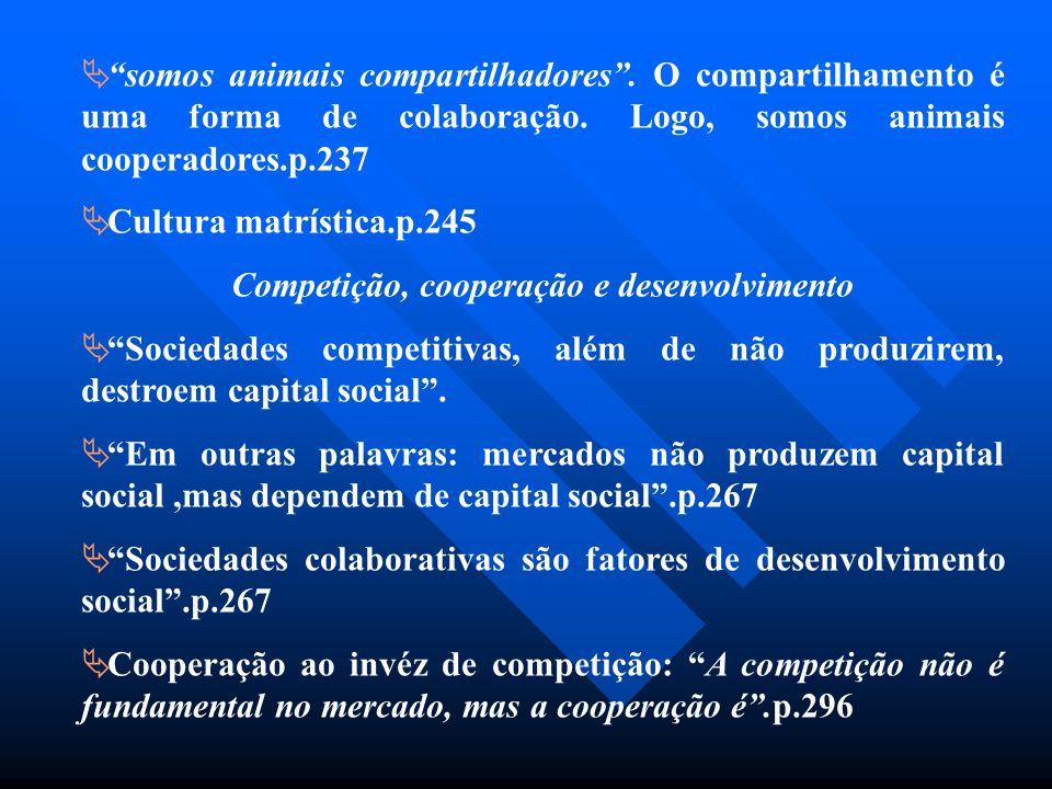 Competição, cooperação e desenvolvimento