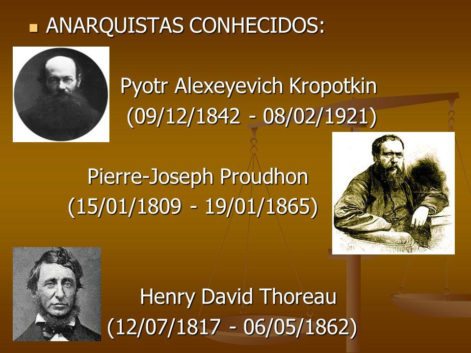 ANARQUISTAS CONHECIDOS: