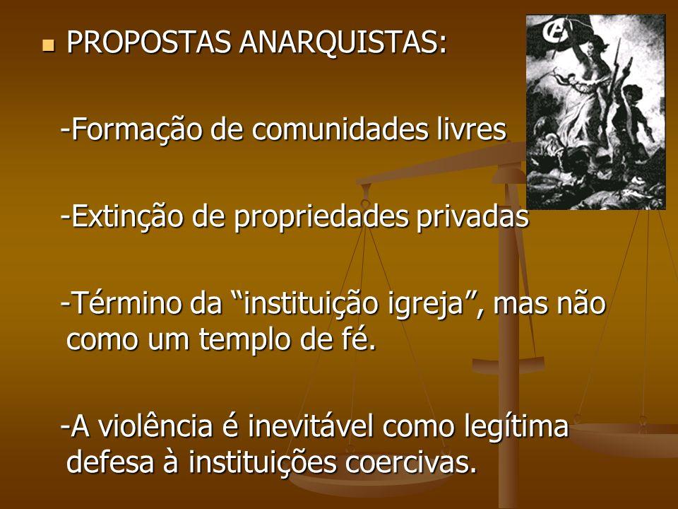 PROPOSTAS ANARQUISTAS: