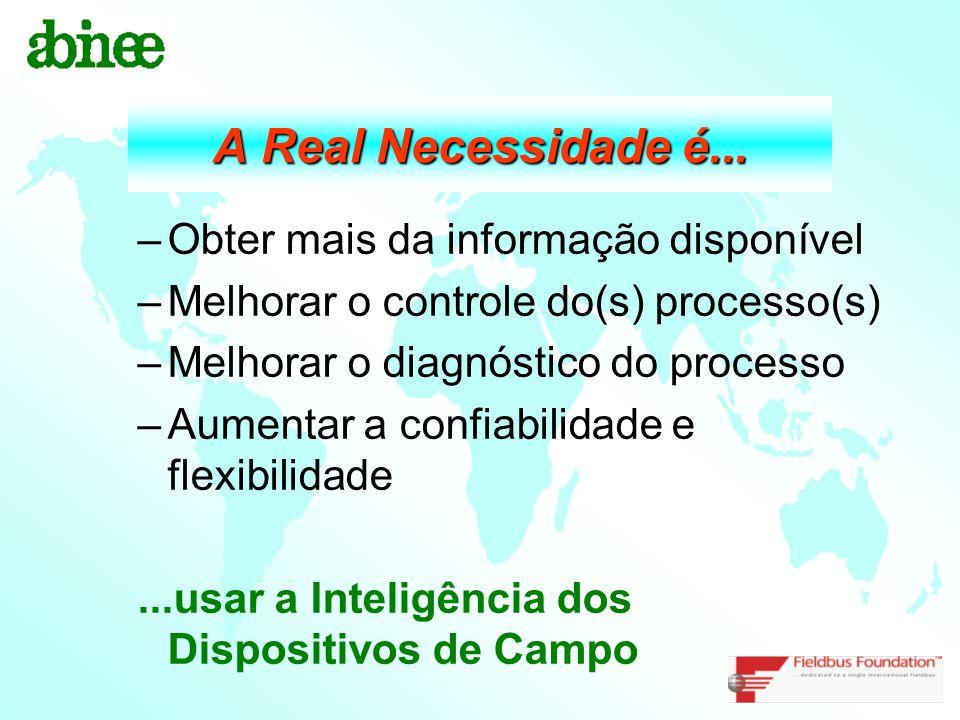 A Real Necessidade é... Obter mais da informação disponível