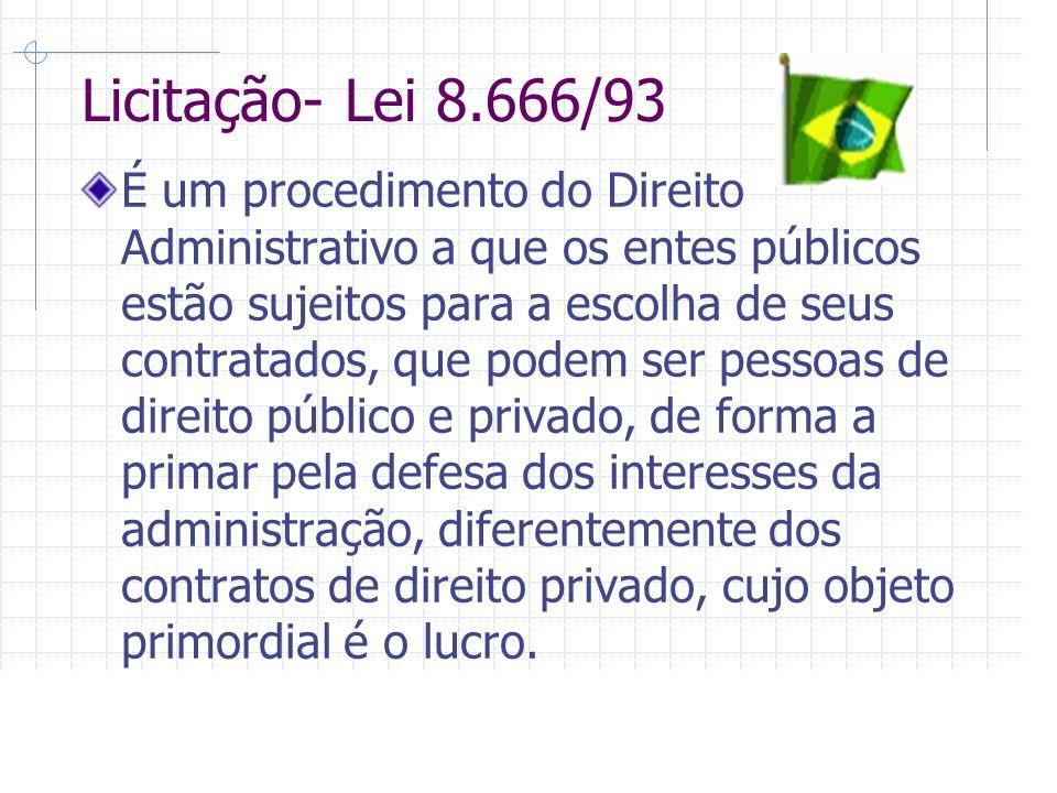Licitação- Lei 8.666/93