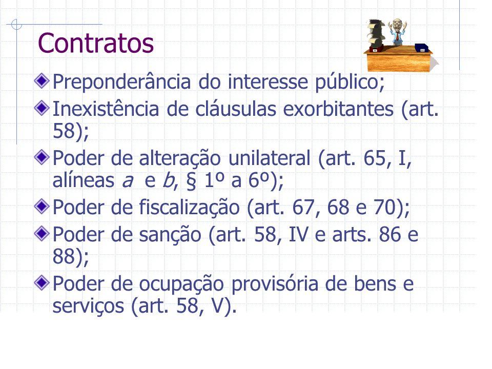 Contratos Preponderância do interesse público;