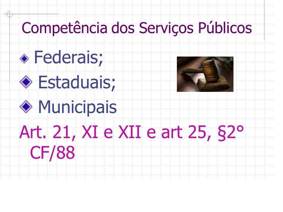 Competência dos Serviços Públicos