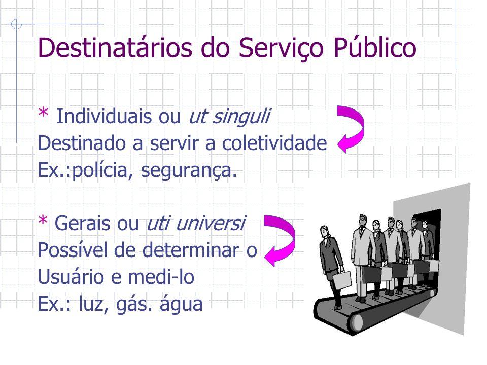 Destinatários do Serviço Público
