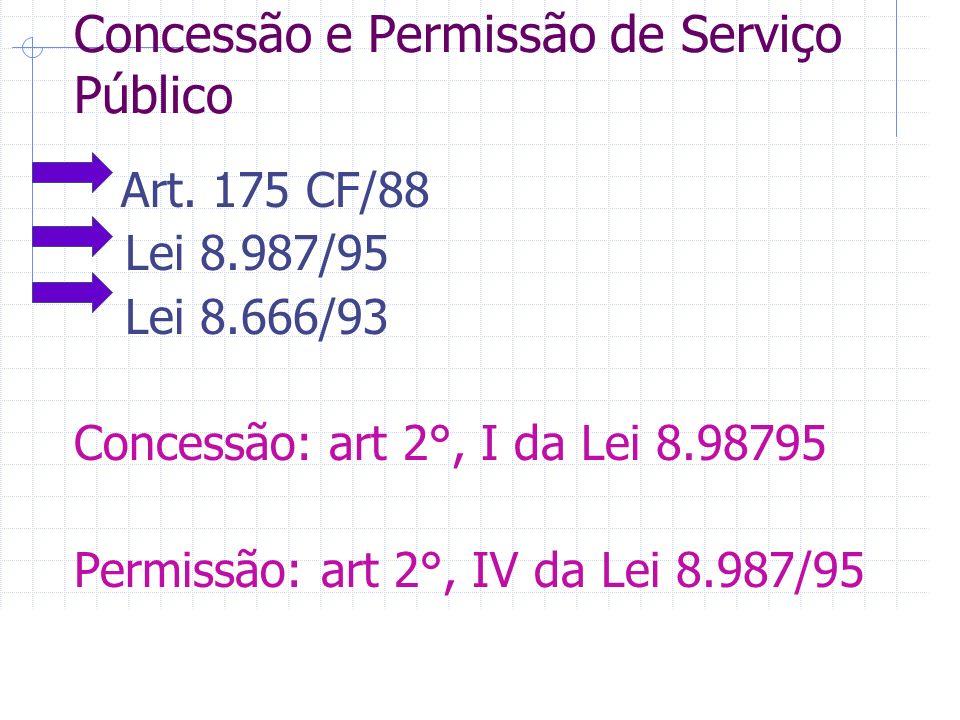 Concessão e Permissão de Serviço Público