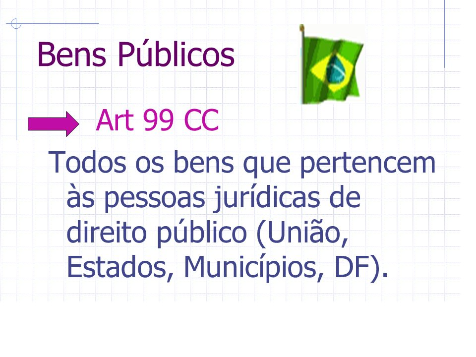 Bens Públicos Art 99 CC.