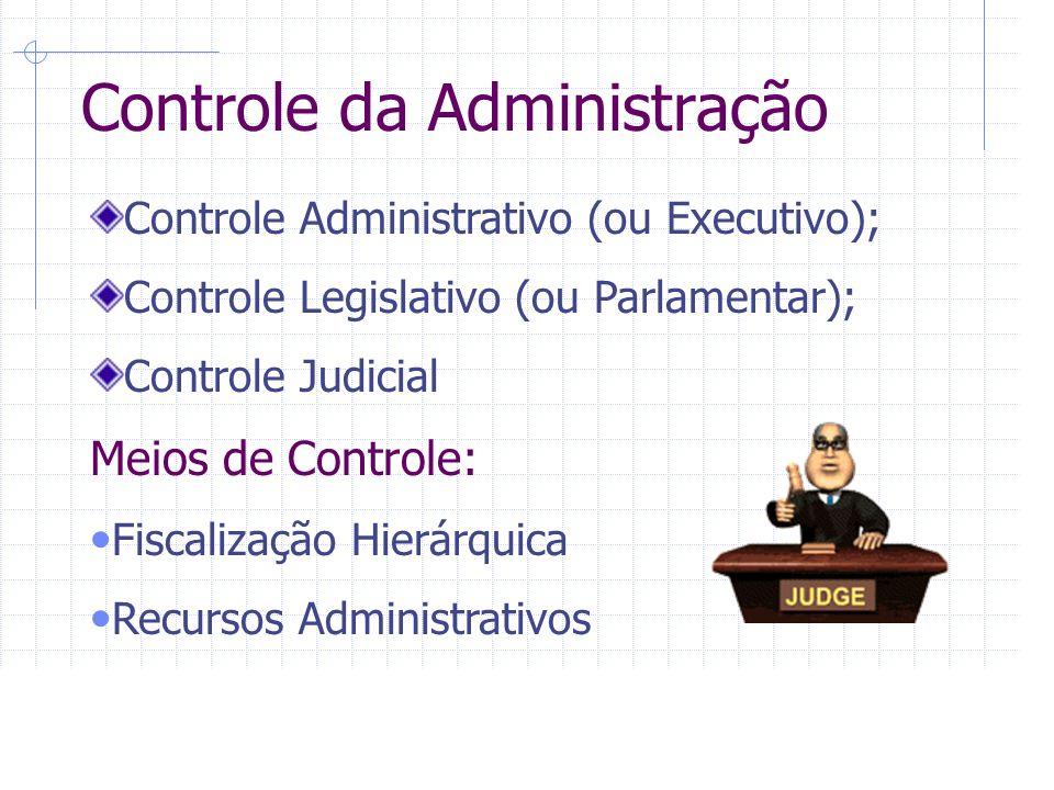 Controle da Administração