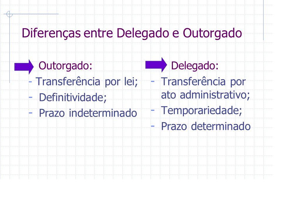Diferenças entre Delegado e Outorgado