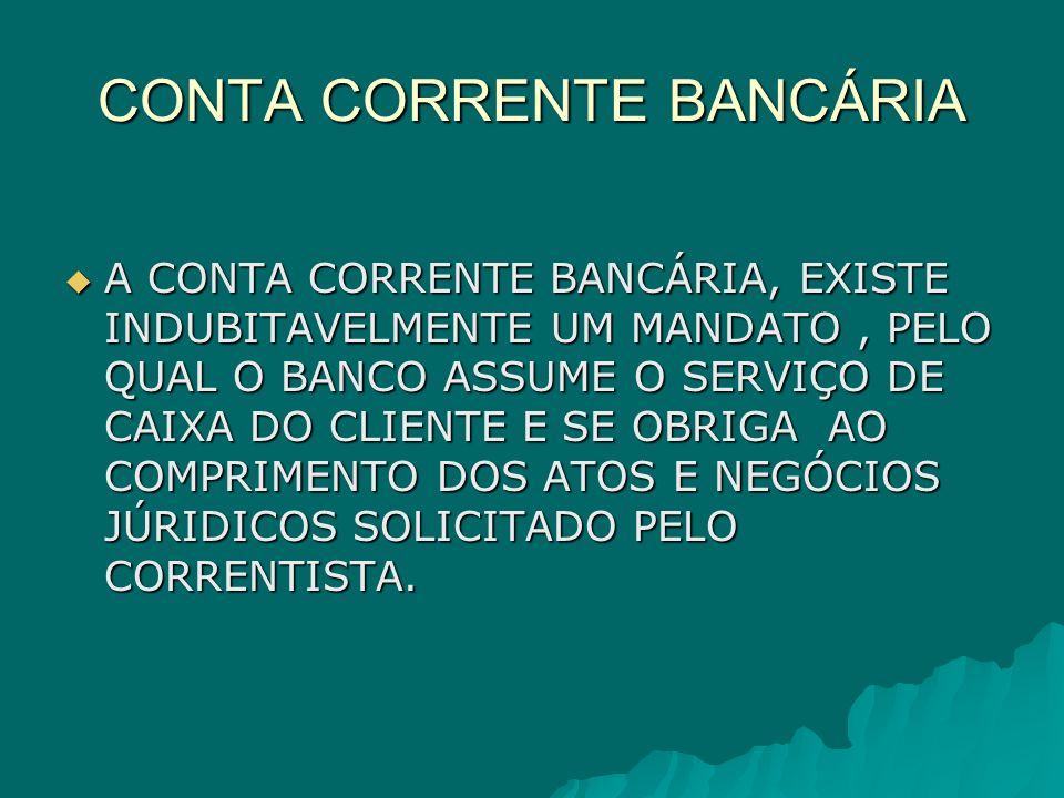CONTA CORRENTE BANCÁRIA