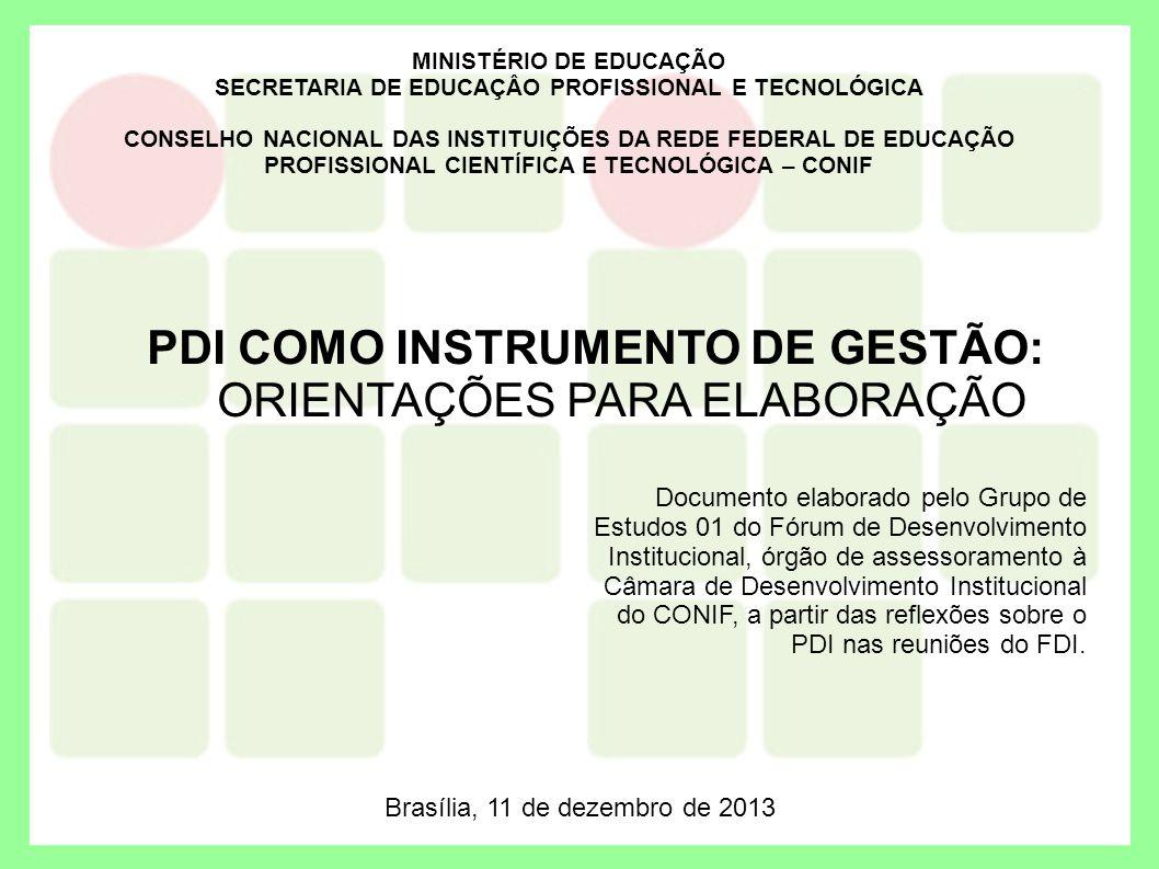 PDI COMO INSTRUMENTO DE GESTÃO: