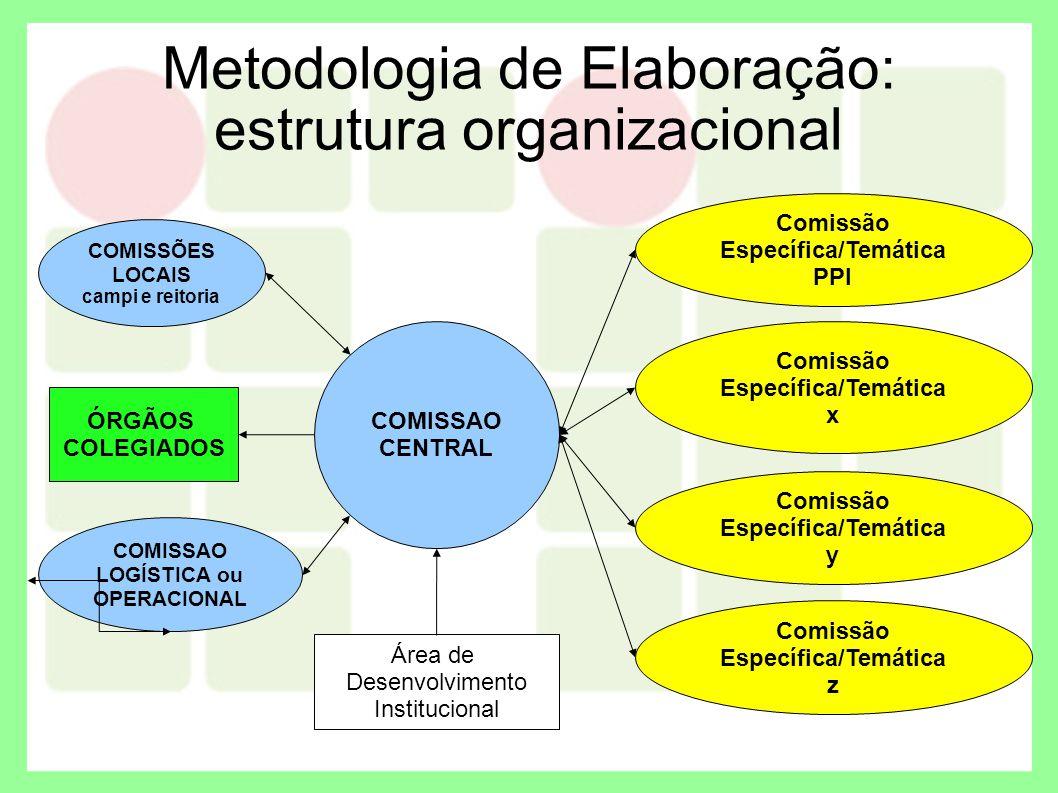 Metodologia de Elaboração: estrutura organizacional