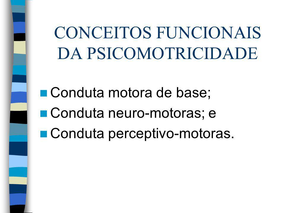 CONCEITOS FUNCIONAIS DA PSICOMOTRICIDADE