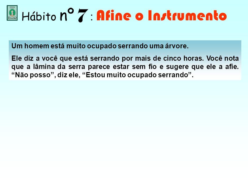 Hábito nº 7 : Afine o Instrumento