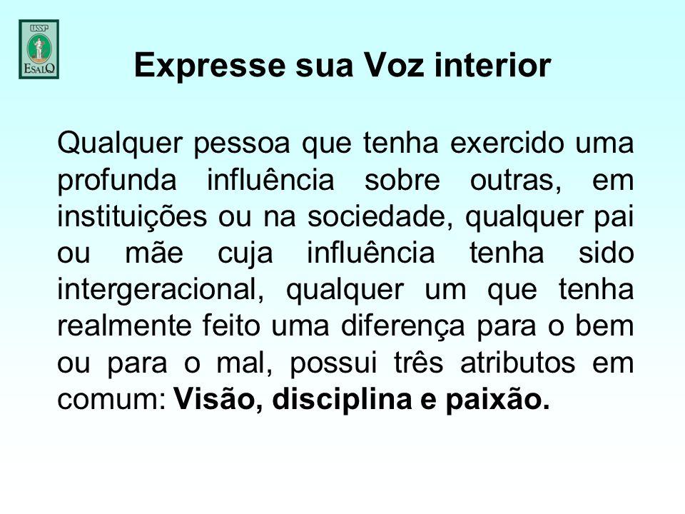 Expresse sua Voz interior