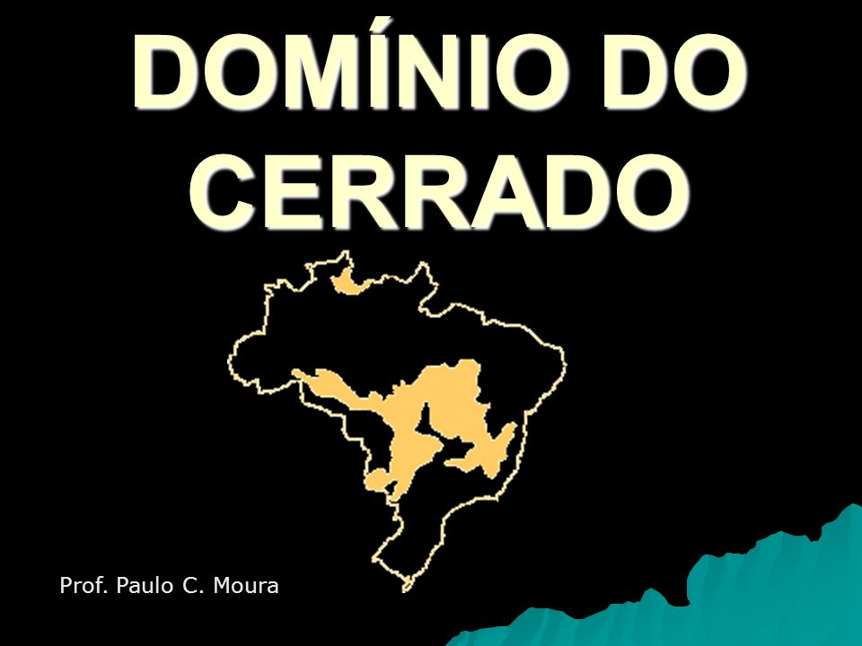 DOMÍNIO DO CERRADO Prof. Paulo C. Moura