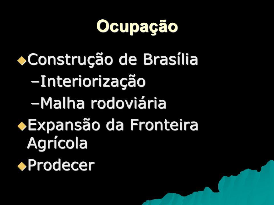 Ocupação Construção de Brasília Interiorização Malha rodoviária