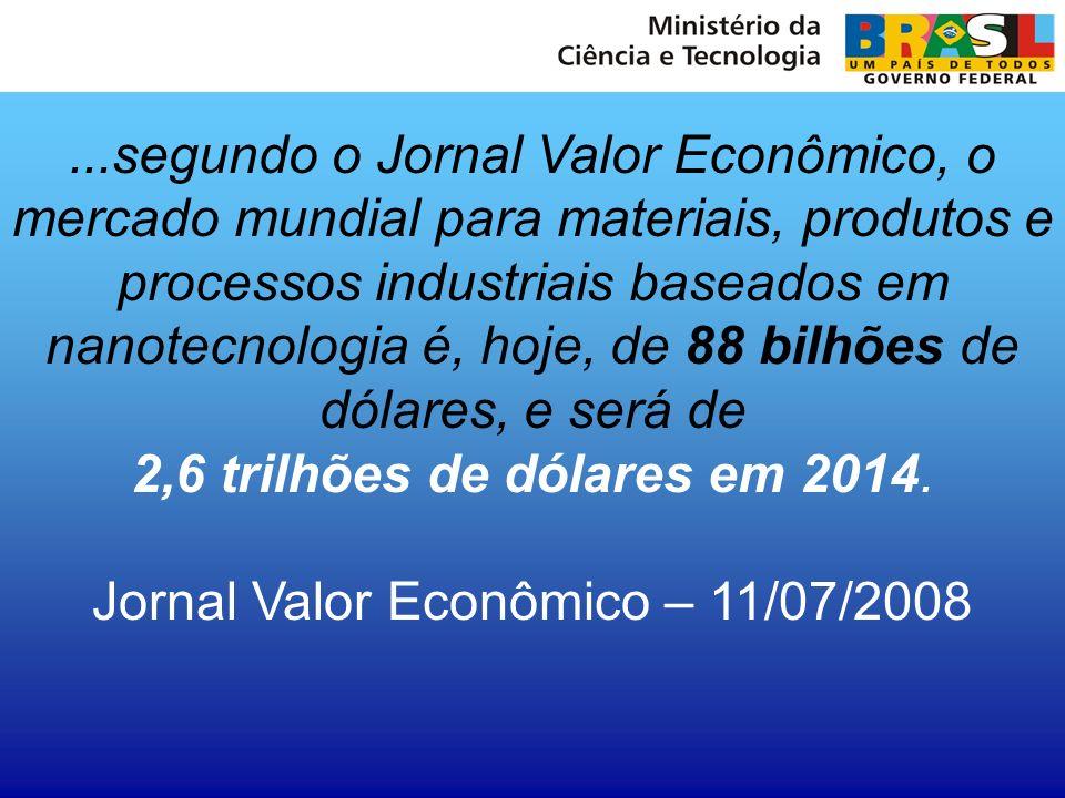 Jornal Valor Econômico – 11/07/2008