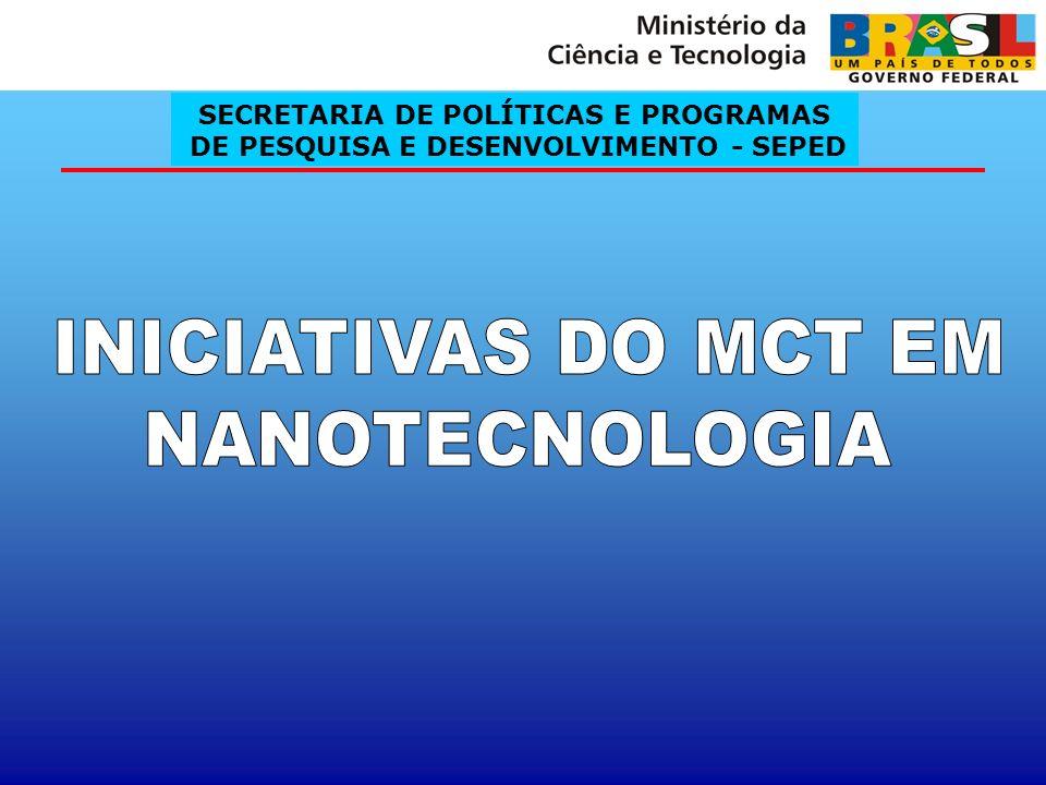 INICIATIVAS DO MCT EM NANOTECNOLOGIA