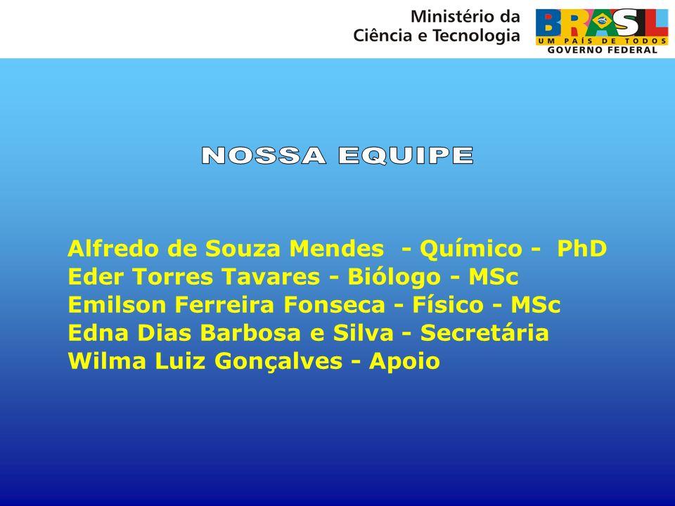 NOSSA EQUIPE Alfredo de Souza Mendes - Químico - PhD