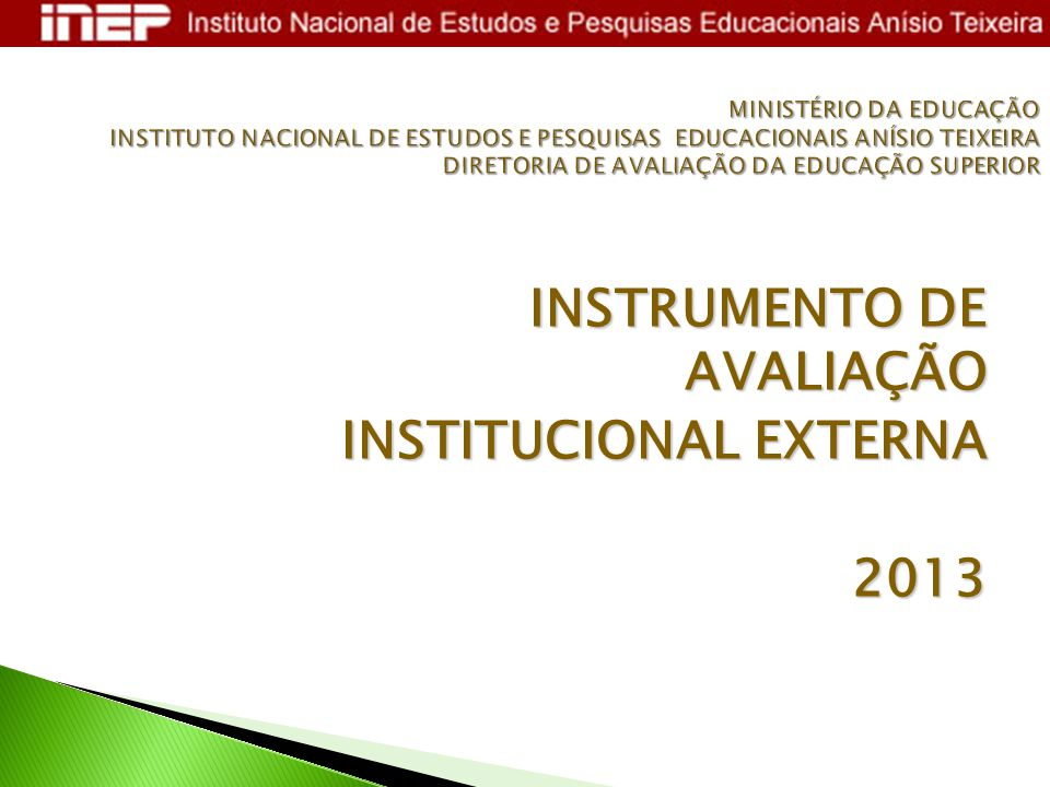 INSTITUCIONAL EXTERNA 2013
