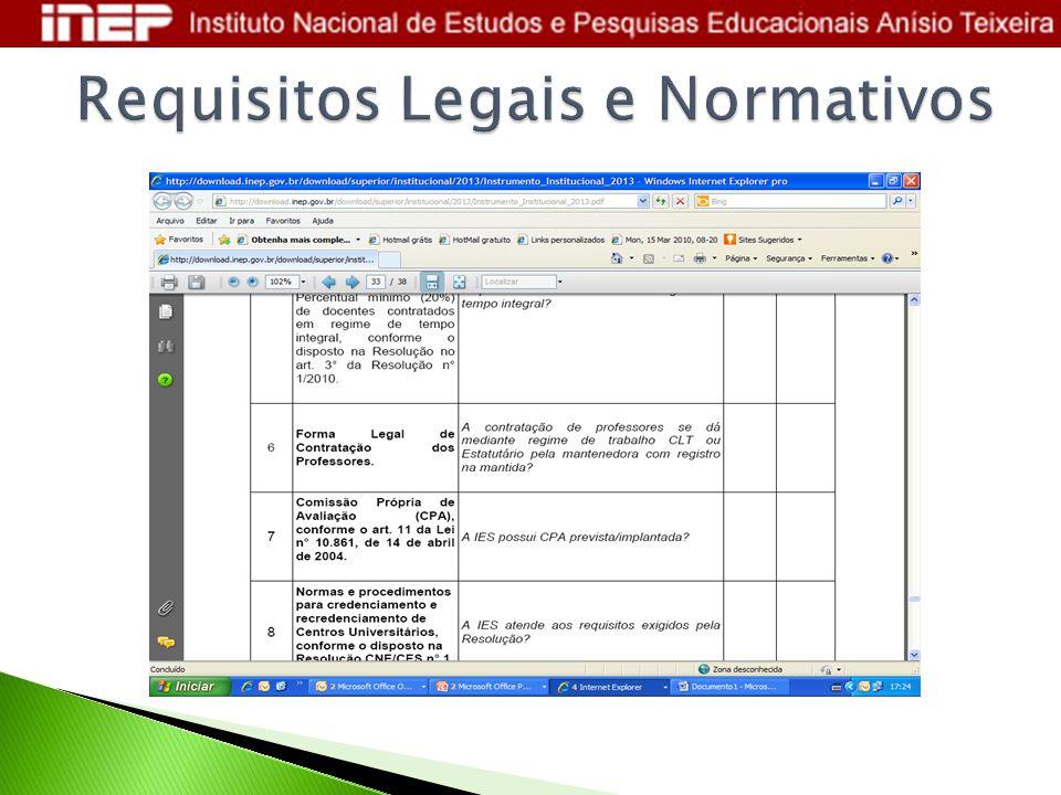 Requisitos Legais e Normativos
