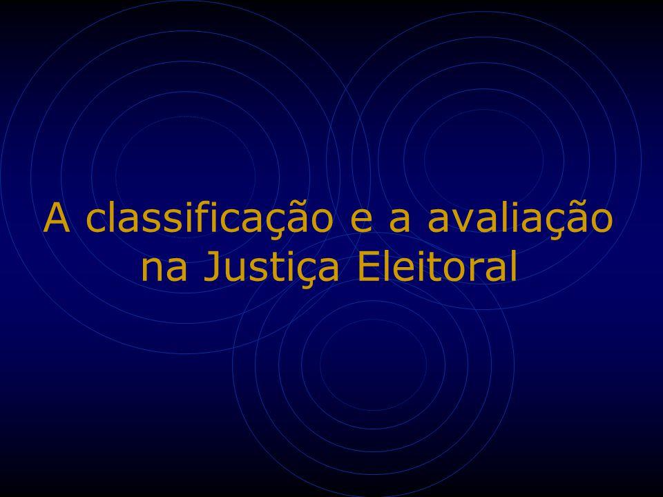 A classificação e a avaliação na Justiça Eleitoral