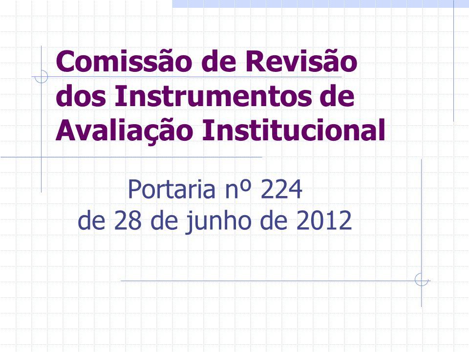 Comissão de Revisão dos Instrumentos de Avaliação Institucional