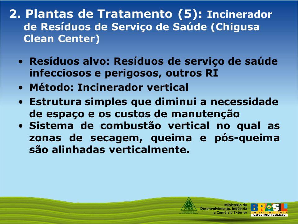 2. Plantas de Tratamento (5): Incinerador de Resíduos de Serviço de Saúde (Chigusa Clean Center)