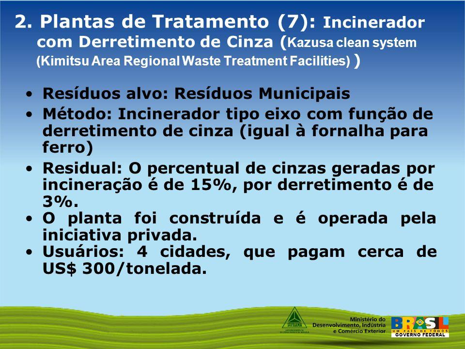 2. Plantas de Tratamento (7): Incinerador com Derretimento de Cinza (Kazusa clean system (Kimitsu Area Regional Waste Treatment Facilities) )