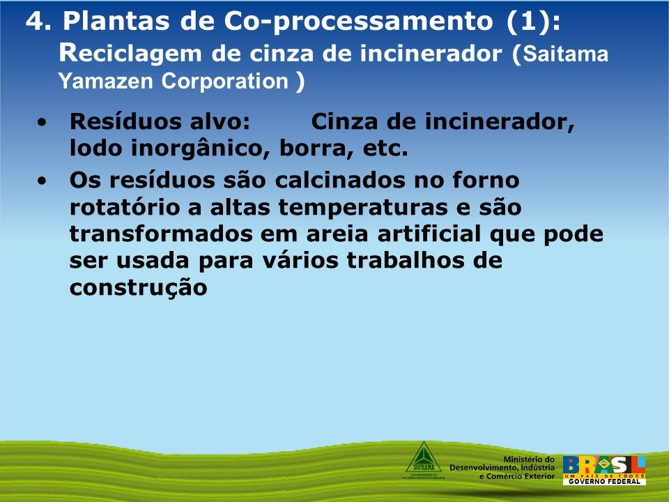 4. Plantas de Co-processamento (1): Reciclagem de cinza de incinerador (Saitama Yamazen Corporation )