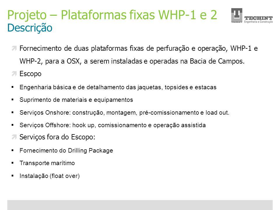 Projeto – Plataformas fixas WHP-1 e 2 Descrição