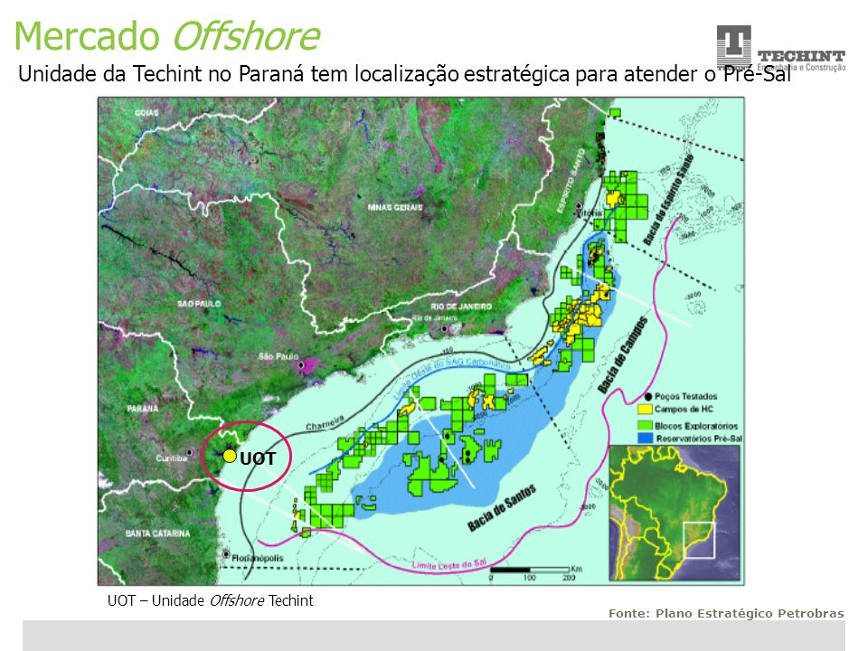 Mercado OffshoreUnidade da Techint no Paraná tem localização estratégica para atender o Pré-Sal. UOT.