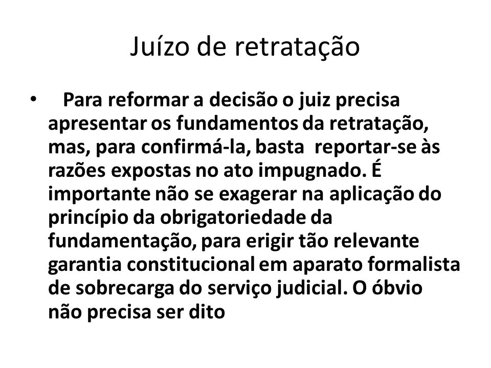 Juízo de retratação