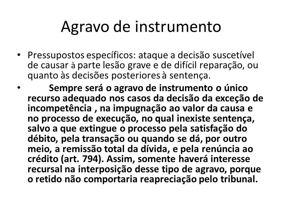 Agravo de instrumento