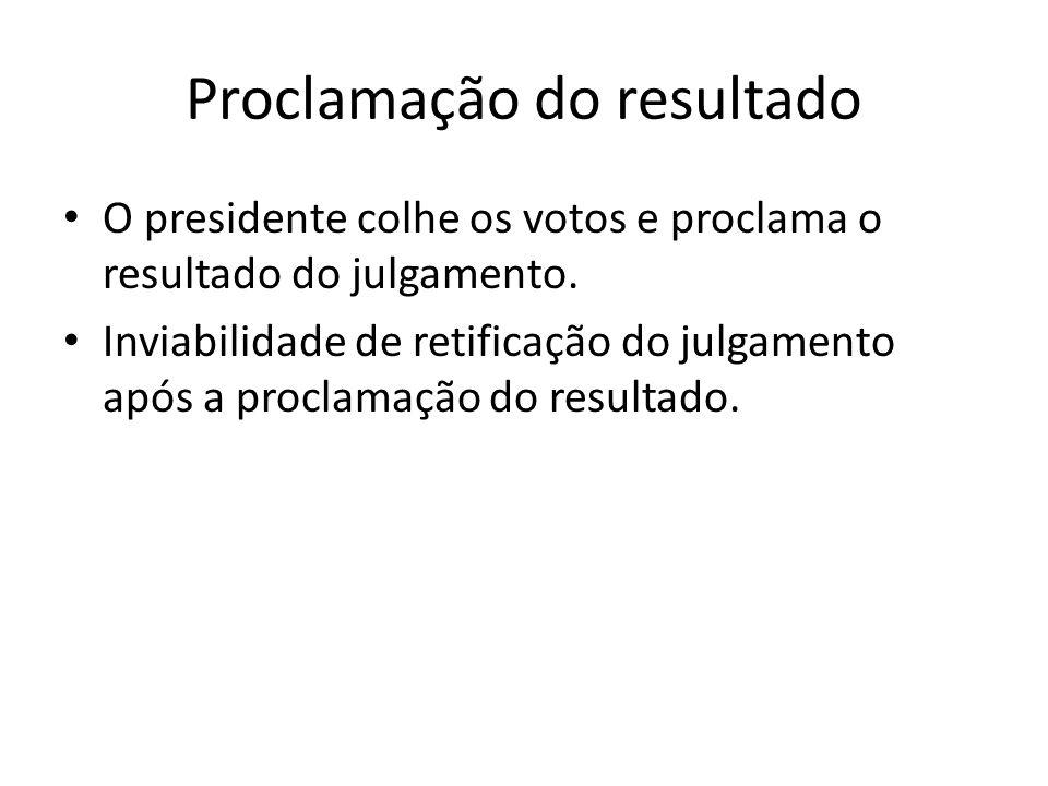Proclamação do resultado
