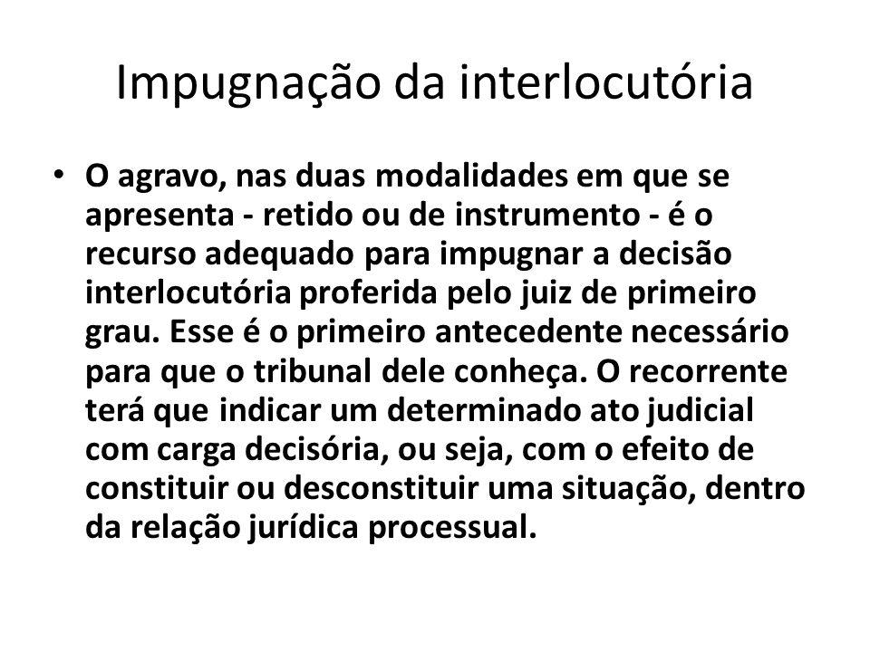 Impugnação da interlocutória