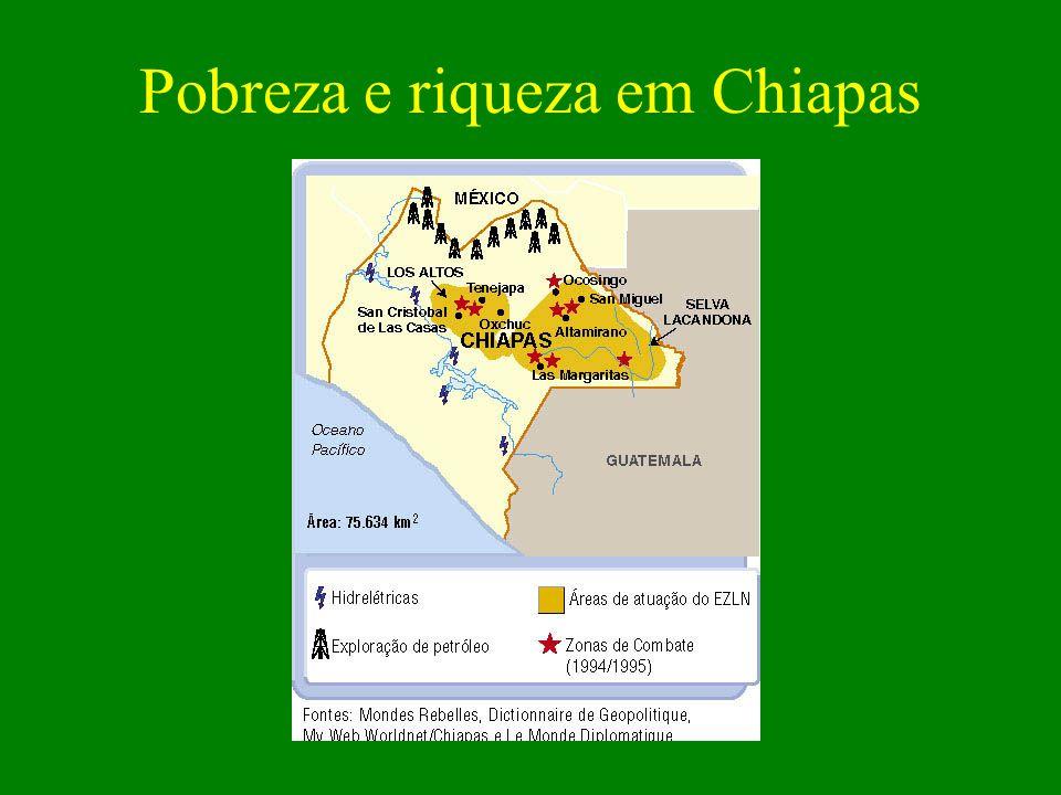 Pobreza e riqueza em Chiapas