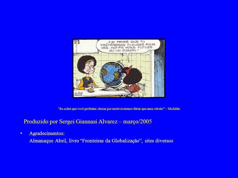 Almanaque Abril, livro Fronteiras da Globalização , sites diversos