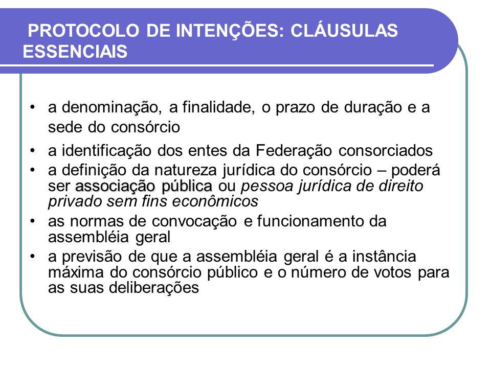 PROTOCOLO DE INTENÇÕES: CLÁUSULAS ESSENCIAIS