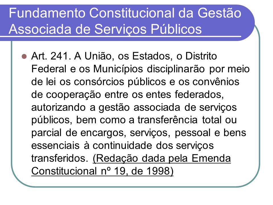Fundamento Constitucional da Gestão Associada de Serviços Públicos