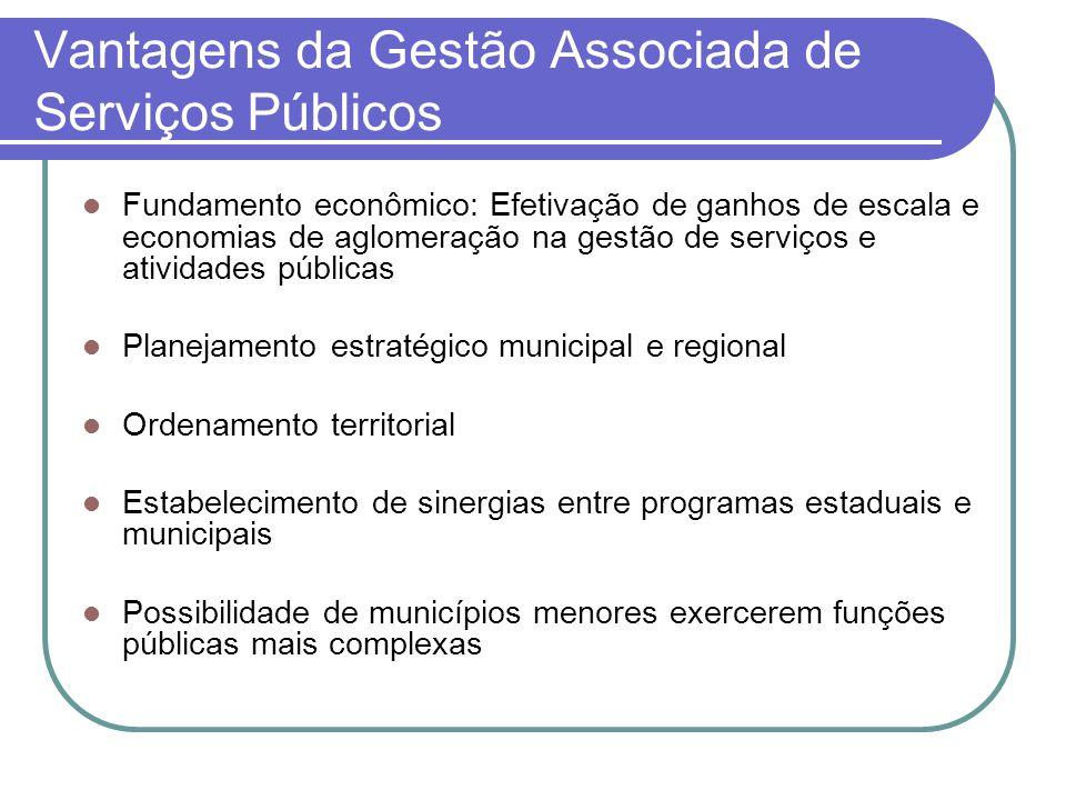 Vantagens da Gestão Associada de Serviços Públicos
