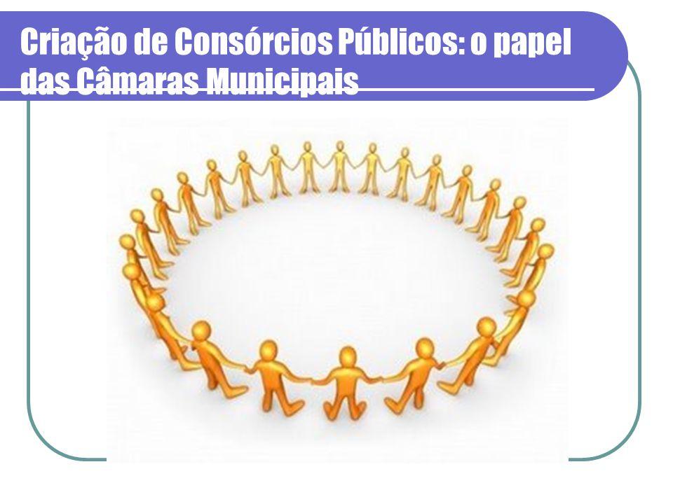 Criação de Consórcios Públicos: o papel das Câmaras Municipais