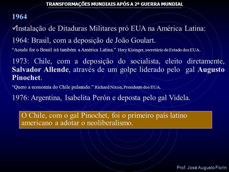 Instalação de Ditaduras Militares pró EUA na América Latina: