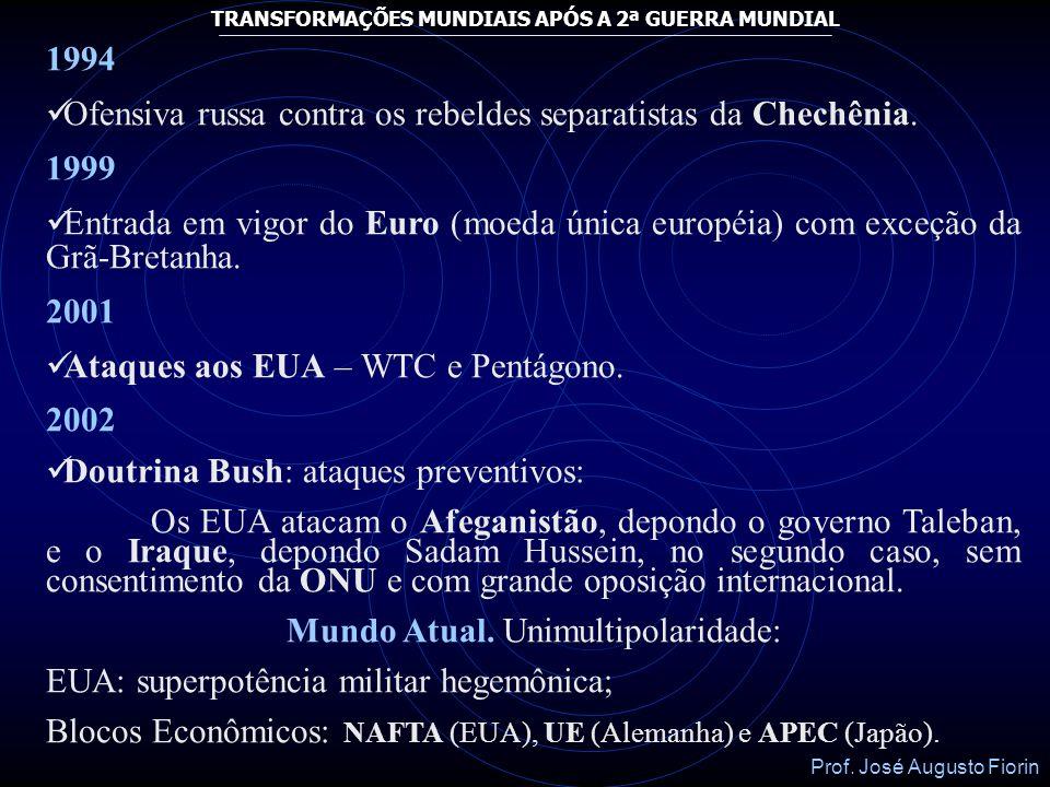 Mundo Atual. Unimultipolaridade: