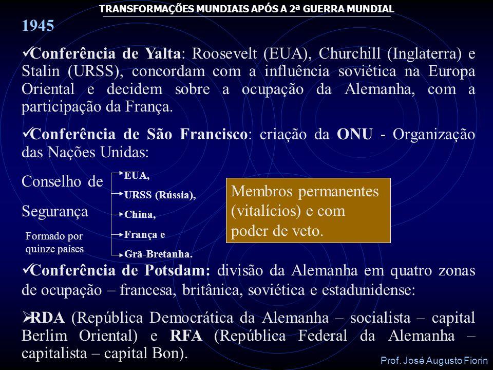 Membros permanentes (vitalícios) e com poder de veto.